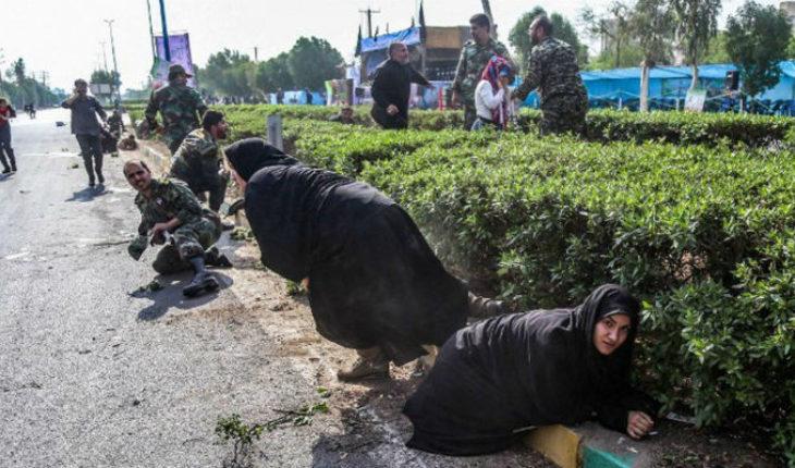 Atentado en desfile militar en Irán, deja 24 muertos