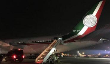Avión presidencial presenta falla; luego de quedar varado en Nueva York, Peña Nieto regresa a México en el TP-02