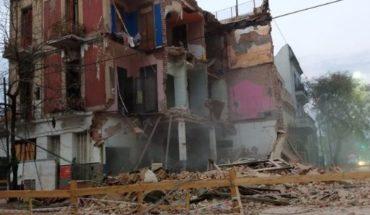 Collapsed a building in Parque Patricios