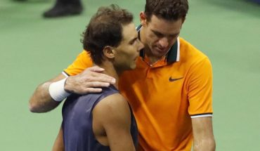 Del Potro went on to the final of the US Open after the abandonment of Nadal