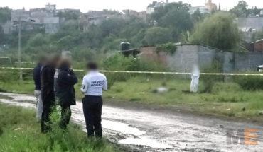 Encuentran el cadáver de un hombre en la colonia Presa de Los Reyes en Morelia, Michoacán