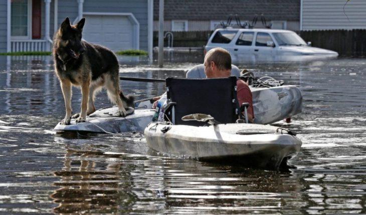 'Florence' causa más inundaciones en su paso hacia el noreste