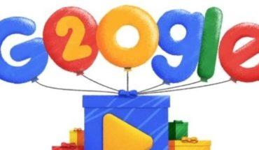 Google cumple 20 años. Mirá cómo lo celebra