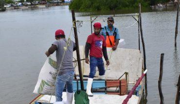 Mal tiempo le hace mala jugada a pescadores de La Playa Colorada