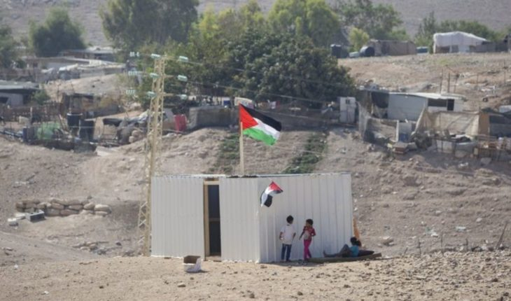 Palestinians protest near village that Israel wants to pull