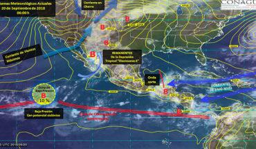Pronostican potencial de tormentas puntuales intensas a torrenciales en el noroeste del país