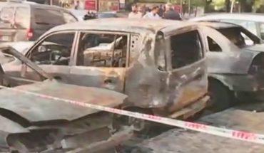 """""""Quemacoches"""" en Parque Chacabuco: 8 autos destruidos"""