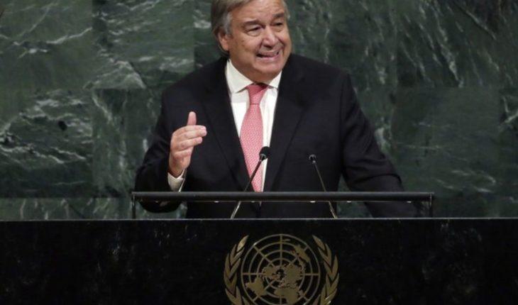 """""""Quien no reconozca el cambio climático está mintiendo"""": Guterres"""