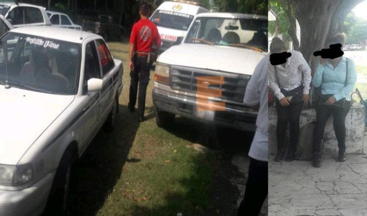 Se lesionan dos personas en choque de camioneta contra taxi en Apatzingán, Michoacán
