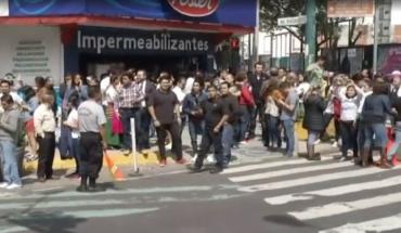 Sismos en CDMX se perciben fuerte en Narvarte