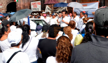 The SNTE teachers are manifested in Morelia, Uruapan, and Zamora and are expected more protests