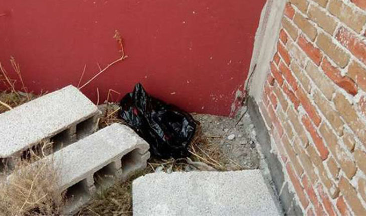 They found the corpse of a newborn inside a bag in Puebla