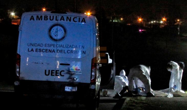 They kill the occupant of a pickup truck in the Av. Oscar Chávez in Tarímbaro, Michoacán