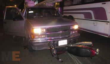 Truck strikes motorcyclist in Zamora, Michoacán