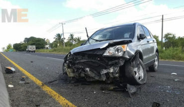 Two accidents in Apatzingan, Michoacan, leaving injured a driver and a passerby