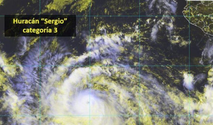 """¡Atención! Huracán """"Sergio"""" ya es categoría 4; aquí su trayectoria"""
