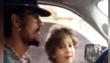 ¿Imprudencia al volante? Daniel Osvaldo y un video manejando con Momo, su hijo con Jimena Barón