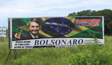 Valla de la campaña de Jair Bolsonaro en la carretera federal BR-343. Foto: Almanaque Lusofonista (trabajo propio) (Wikimedia Commons / CC BY 3.0 BR). Blog Elcano