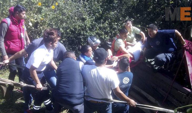 Accidente vehicular deja a una mujer herida en Zitácuaro, Michoacán
