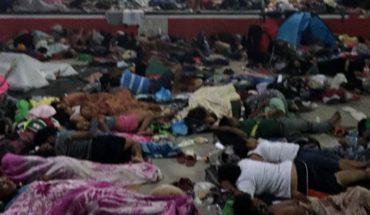 Acusan a joven de secuestrar a niño de la caravana de migrantes
