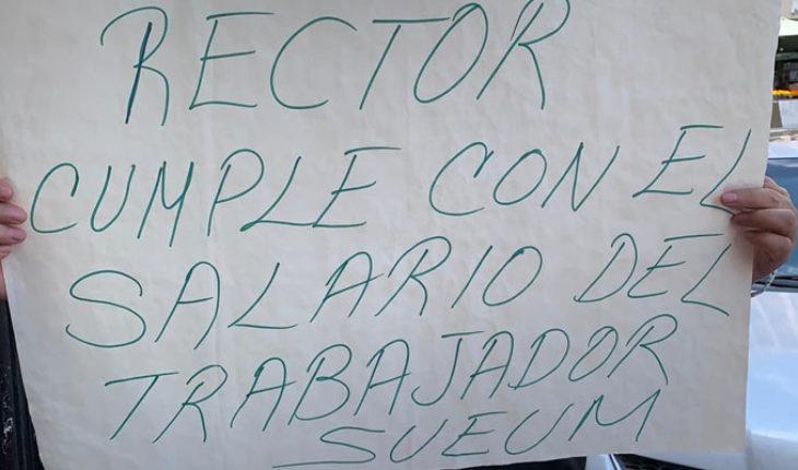 Ante la falta de pagos, sindicalistas universitarios de la UMSNH fortalecerán protestas