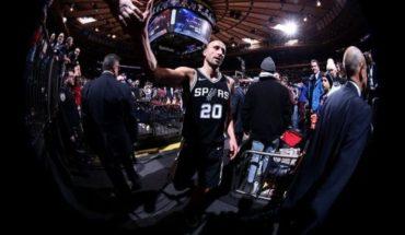 Así vivió Manu Ginóbili el primer partido de San Antonio Spurs fuera de las canchas