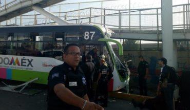 Choque de Mexibús en Ecatepec deja al menos 22 heridos