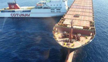 Choque entre dos barcos provoca derrame de líquido