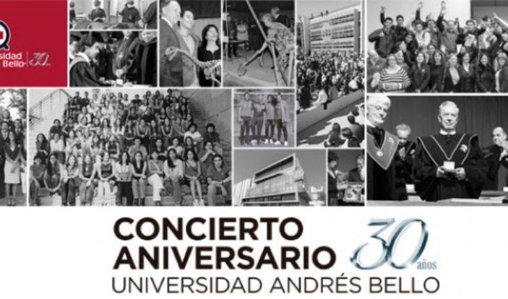 """Concierto Aniversario 30 años UNAB """"Las Estaciones de Vivaldi y Piazzolla"""" en Campus Casona de Las Condes"""