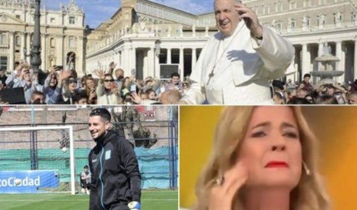 El Papa contra el aborto, llanto y pedido de Mercedes Ninci, Racing perdio a su arquero, Lourdes versus Laurita y mucho más...