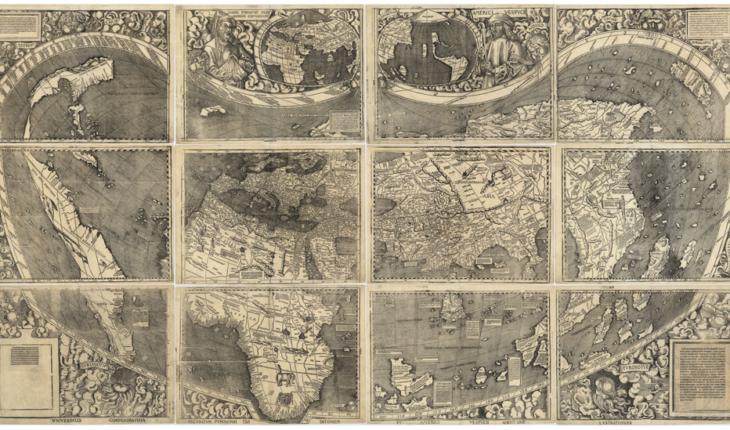 El mapa en el que aparece el nombre América por primera vez