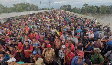 En imágenes, así fue el paso de la caravana migrante a México