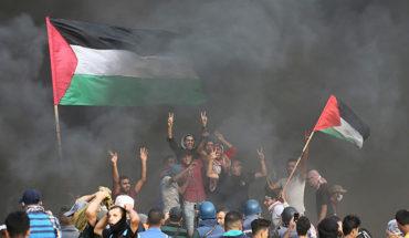 Esta es la fotografía del manifestante palestino que internautas comparan con pintura de Delacroix