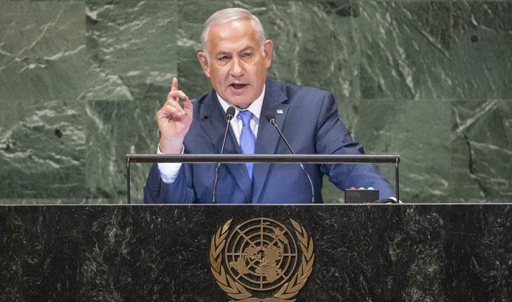 Benjamin Netanyahu, primer ministro de Israel, en su discurso en el 73º período de sesiones de la Asamblea General de la ONU. Foto: UN Photo / Cia Pak.