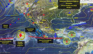 Hoy, tormentas puntuales intensas en el sur de ambos litorales y posible caída de granizo en el occidente del país