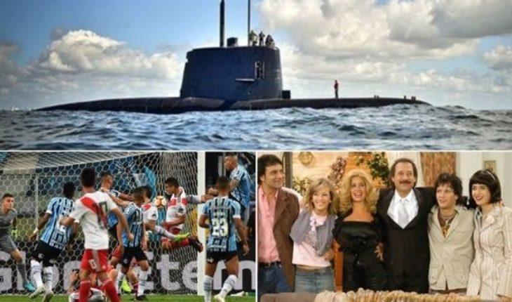 Informe sobre el ARA San Juan, Gremio reclama ante la Conmebol, la previa de Boca - Palmeiras, vuelve Casados con hijos y mucho más...