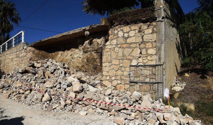 Los daños que dejó el fuerte terremoto que sacudió Grecia