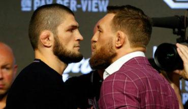 McGregor calienta pesaje con patada a Nurmagomedov