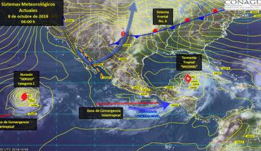 """""""Michael"""" ocasionará lluvias puntuales muy fuertes a intensas y oleaje elevado en la península de Yucatán"""