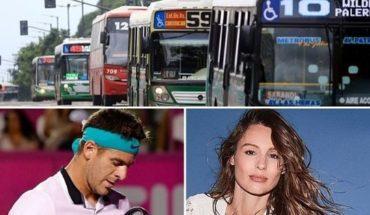 Nuevo aumento en el transporte, Pampita habló de su hija, grave lesión de Del Potro y mucho más...