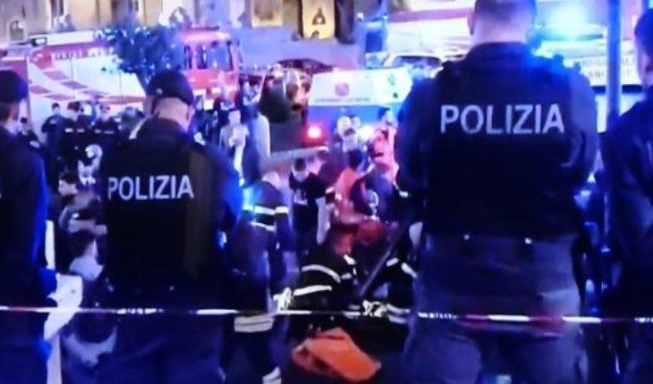 Pánico en Roma: una escalera mecánica sin control hirió a varios hinchas del CSKA Moscú