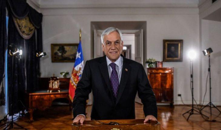 Presidente Piñera presenta en cadena nacional propuesta de reforma a las pensiones