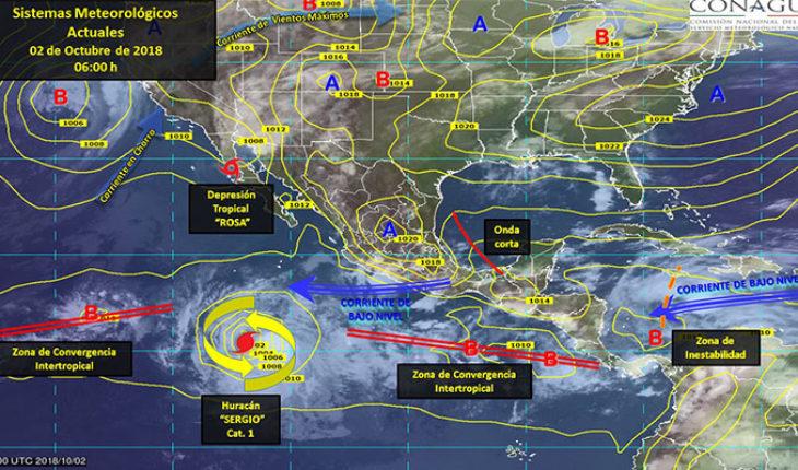 Prevén tormentas puntuales intensas en el sur y oriente del país y puntuales muy fuertes en ambos litorales