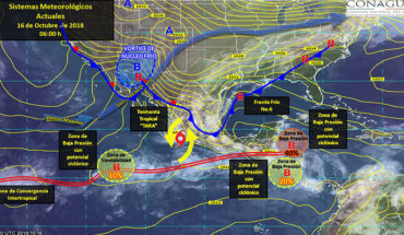 Pronostican temporal de lluvias sobre gran parte del país y marcado descenso de temperatura