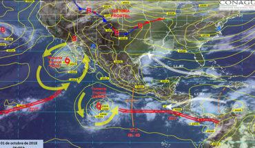 Pronostican tormentas puntuales torrenciales, actividad eléctrica y vientos fuertes en Baja California y Sonora