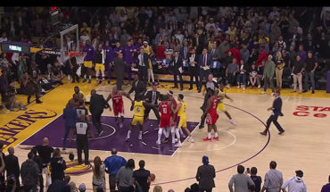 Trifulca entre Rockets y Lakers; expulsan a Rajon Rondo y Chris Paul (Video)