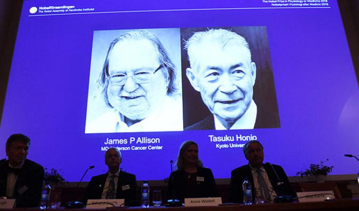 Un estadounidense y un japonés ganaron el Nobel de Medicina por sus aportes a la inmunoterapia contra el cáncer