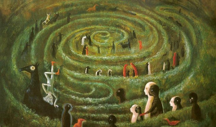 """Un mundo cada vez más desordenado (""""Laberinto"""", de Leonora Carrington, 1991. Imagen vía Fundación Leonora Carrington). Blog Elcano"""