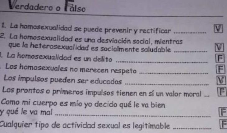 """Una docente planteó que la homosexualidad es un delito y que se puede """"rectificar"""""""