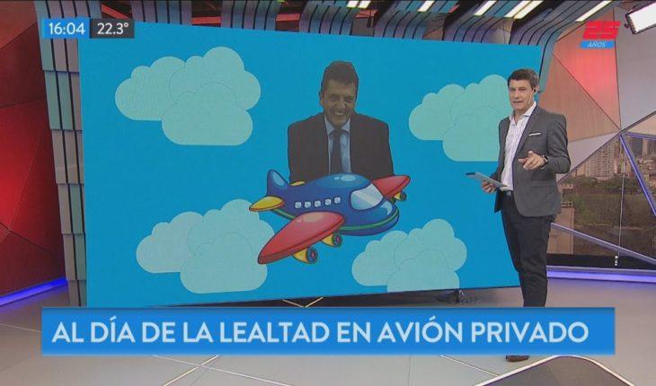 En jet privado al Día de la Lealtad Peronista